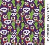 seamless halloween pattern....   Shutterstock .eps vector #1429417544