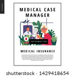 medical insurance template ... | Shutterstock .eps vector #1429418654