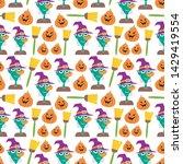 seamless halloween pattern....   Shutterstock .eps vector #1429419554
