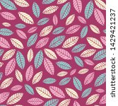 seamless abstract ikat pattern...   Shutterstock .eps vector #1429421237
