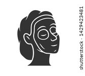 cosmetic facial clay mask glyph ... | Shutterstock .eps vector #1429423481