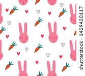 bunny with carrots pattern...   Shutterstock .eps vector #1429430117
