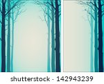 two background with trees and... | Shutterstock .eps vector #142943239