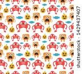 seamless halloween pattern....   Shutterstock .eps vector #1429437407