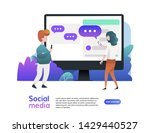 website template of social...