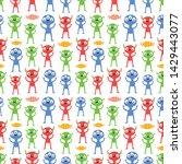 seamless halloween pattern....   Shutterstock .eps vector #1429443077
