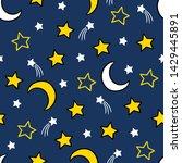 vector cartoon hand drawn moon...   Shutterstock .eps vector #1429445891