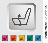 heated set low. single icon.... | Shutterstock . vector #142944727