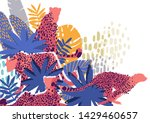 graphic cheetahs in different... | Shutterstock .eps vector #1429460657