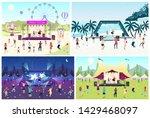 music festival flat vector... | Shutterstock .eps vector #1429468097