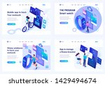 set isometric landing pages ... | Shutterstock .eps vector #1429494674