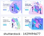 set isometric landing pages ... | Shutterstock .eps vector #1429494677