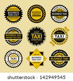 taxi labels   vintage style.... | Shutterstock . vector #142949545