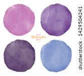 set of color watercolor stains. ... | Shutterstock . vector #1429504241
