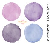 set of color watercolor stains. ... | Shutterstock . vector #1429504244