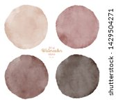 set of color watercolor stains. ... | Shutterstock . vector #1429504271