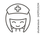 nurse icon. simple outline... | Shutterstock .eps vector #1429513154