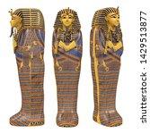 Egyptian Pharaoh Mummy Coffin...