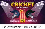 cricket tournament  england v s ... | Shutterstock .eps vector #1429528187