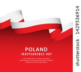 poland independence day vector... | Shutterstock .eps vector #1429536914