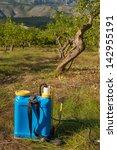pesticide sprayer against the... | Shutterstock . vector #142955191