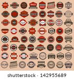racing badges   vintage style ... | Shutterstock . vector #142955689