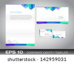 corporate identity set or kit... | Shutterstock .eps vector #142959031