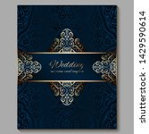 wedding invitation card with...   Shutterstock .eps vector #1429590614