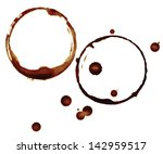 coffee cup rings isolated on a... | Shutterstock . vector #142959517