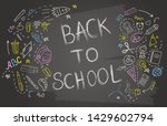 back to school banner with... | Shutterstock .eps vector #1429602794