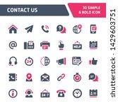 30 editable vector icons... | Shutterstock .eps vector #1429603751