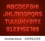 paper alphabet letters font... | Shutterstock .eps vector #142961245