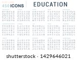 collection of line icons of... | Shutterstock . vector #1429646021
