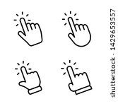 hands clicking icons collection.... | Shutterstock .eps vector #1429653557