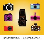 set of photographic cameras...   Shutterstock .eps vector #1429656914