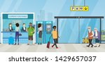 hall in airport terminal or...   Shutterstock .eps vector #1429657037