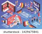 isometric expo stand horizontal ... | Shutterstock .eps vector #1429675841