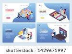 isometric online mobile banking ... | Shutterstock .eps vector #1429675997