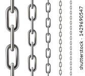 metal chain seamless pattern ... | Shutterstock .eps vector #1429690547