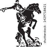 rodeo rider 3   retro ad art... | Shutterstock .eps vector #1429718621
