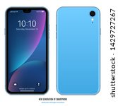 Smartphone Blue Color With...