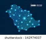 pixel saudi arabia map with... | Shutterstock .eps vector #142974037