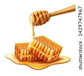 realistic liquid honey dripping ... | Shutterstock .eps vector #1429747967