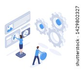 software testing and...   Shutterstock .eps vector #1429802327
