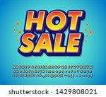 hot sale sticker font effect ... | Shutterstock .eps vector #1429808021