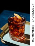 Stock photo negroni an italian cocktail an ap ritif first mixed in firenze italy in count camillo 1429822127