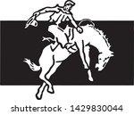 rodeo rider 4   retro ad art... | Shutterstock .eps vector #1429830044