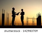human figures builders in the... | Shutterstock . vector #142983709