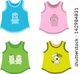 set of children's shirts with... | Shutterstock .eps vector #142984831