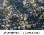 aerial of hillside homes in the ... | Shutterstock . vector #1429863464
